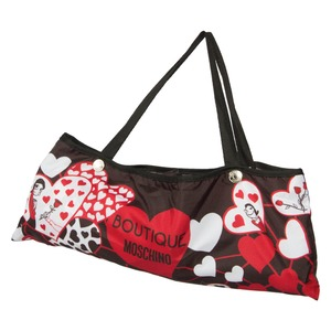 Зонт складной Moschino 7007-OCA Olivia Hearts Black фото-4