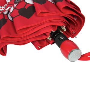 Зонт складной Moschino 7007-OCC Olivia Hearts Red фото-4