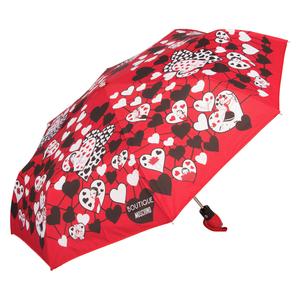 Зонт складной Moschino 7007-OCC Olivia Hearts Red фото-2