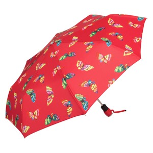 Зонт складной Moschino 7078-OCC Butterflies Red фото-2