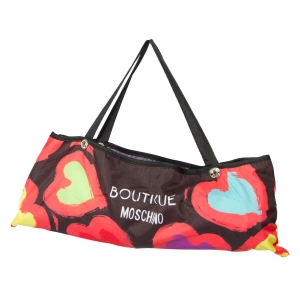 Зонт складной Moschino 7081-OCA Painted hearts Black фото-3