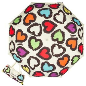 Зонт складной Moschino 7081-OCI Painted hearts Beige фото-1