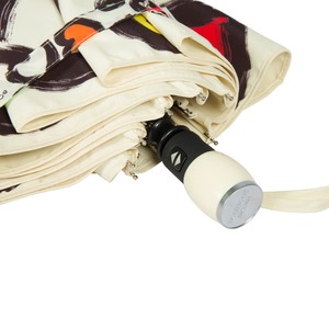 Зонт складной Moschino 7081-OCI Painted hearts Beige фото-5