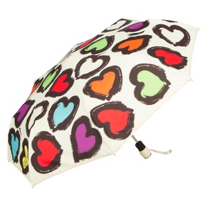 Зонт складной Moschino 7081-OCI Painted hearts Beige фото-2