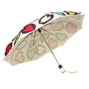 Зонт складной Moschino 7081-OCI Painted hearts Beige фото-3