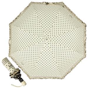 Зонт складной Moschino 7108-OCI Polka Dots Beige/Black фото-1