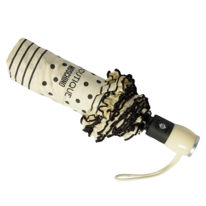 Зонт складной Moschino 7108-OCI Polka Dots Beige/Black фото-3