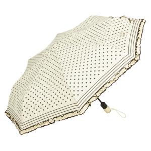 Зонт складной Moschino 7108-OCI Polka Dots Beige/Black фото-2