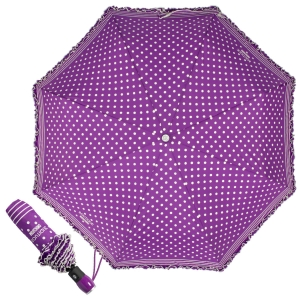Зонт складной Moschino 7108-OCQ Polka Dots Violet/White фото-1