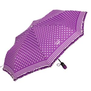 Зонт складной Moschino 7108-OCQ Polka Dots Violet/White фото-2