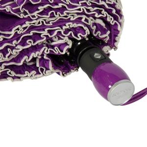 Зонт складной Moschino 7108-OCQ Polka Dots Violet/White фото-3