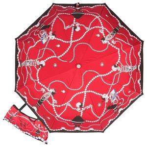 Зонт складной Moschino 7111-OCC Olivia in Pearls Red фото-1