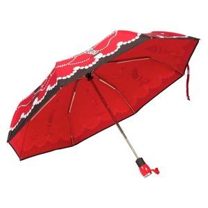 Зонт складной Moschino 7111-OCC Olivia in Pearls Red фото-3