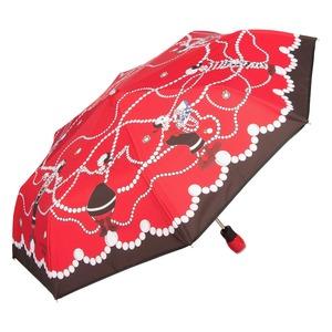 Зонт складной Moschino 7111-OCC Olivia in Pearls Red фото-2