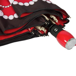 Зонт складной Moschino 7111-OCC Olivia in Pearls Red фото-5