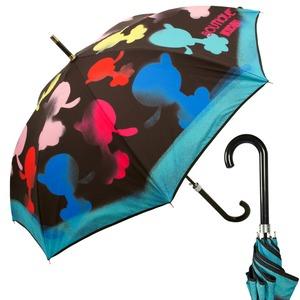 Зонт трость Moschino 7122-63AUTOA Olivia Spray Black фото-1