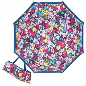 Зонт складной Moschino 7525-OCF Pop Hearts Blue  фото-1
