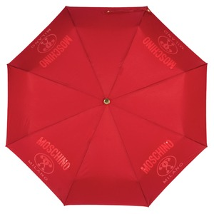 Зонт складной Moschino 8010-OCC Lettering Red фото-3