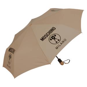 Зонт складной Moschino 8010-OCD Lettering Dark Beige фото-2