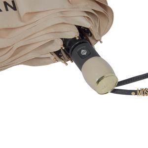 Зонт складной Moschino 8010-OCD Lettering Dark Beige фото-4