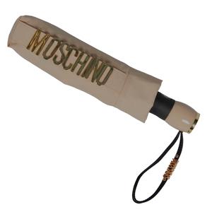 Зонт складной Moschino 8010-OCD Lettering Dark Beige фото-5