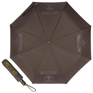 Зонт складной Moschino 8010-OCL Lettering Grey фото-1