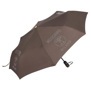 Зонт складной Moschino 8010-OCL Lettering Grey фото-2