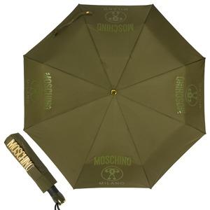 Зонт складной Moschino 8010-OCM Lettering Darkgreen фото-1