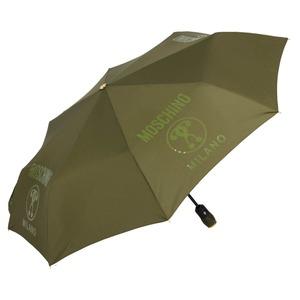Зонт складной Moschino 8010-OCM Lettering Darkgreen фото-2