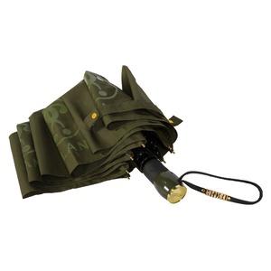 Зонт складной Moschino 8010-OCM Lettering Darkgreen фото-3