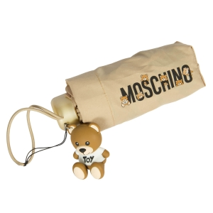 Зонт складной Moschino 8032-SUPERMINID BEAR LOGO DARK BEIGE фото-3