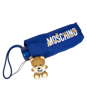 Зонт складной Moschino 8032-SUPERMINIF BEAR LOGO BLUE фото-3