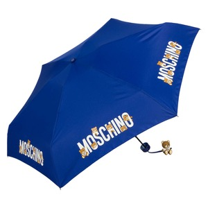 Зонт складной Moschino 8032-SUPERMINIF BEAR LOGO BLUE фото-2