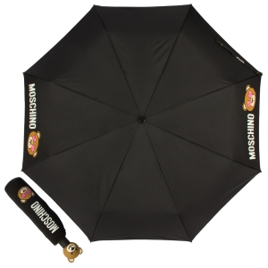 Зонт складной Moschino 8040-OCA Toy in love Black фото-1