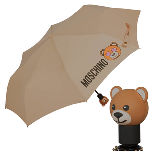 Зонт складной Moschino 8040-OCD Toy in love Dark Beige фото-1