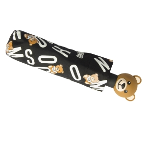Зонт складной Moschino 8181-OCA Toy Lettering Black фото-5