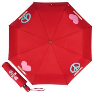 Зонт складной Moschino 8185-OCC Classics Red фото-1