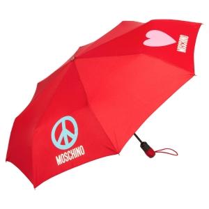 Зонт складной Moschino 8185-OCC Classics Red фото-2