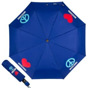 Зонт складной Moschino 8185-OCF Classics Blue фото-1