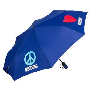 Зонт складной Moschino 8185-OCF Classics Blue фото-2