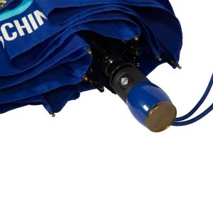 Зонт складной Moschino 8185-OCF Classics Blue фото-3