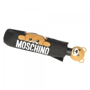 Зонт складной Moschino 8194-OCA Hidden Teddy Black фото-5