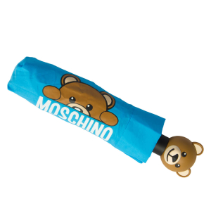 Зонт складной Moschino 8194-OCP Hidden Teddy Blue фото-3