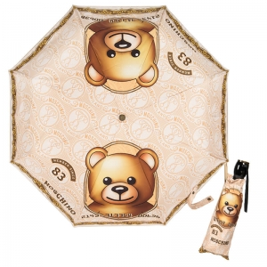 Зонт складной Moschino 8330-OCA Credit Card Bear Multi  фото-1