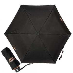 Зонт складной Moschino 7000-SuperminiA Embroidery Black фото-1