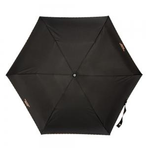 Зонт складной Moschino 7000-SuperminiA Embroidery Black фото-4