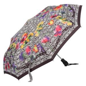 Зонт складной Moschino 8016-OCA Logo Flowers Black фото-2