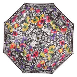 Зонт складной Moschino 8016-OCA Logo Flowers Black фото-3