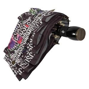 Зонт складной Moschino 8016-OCA Logo Flowers Black фото-4