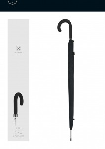 Зонт-трость M&P C1780-LA Control Black фото-6